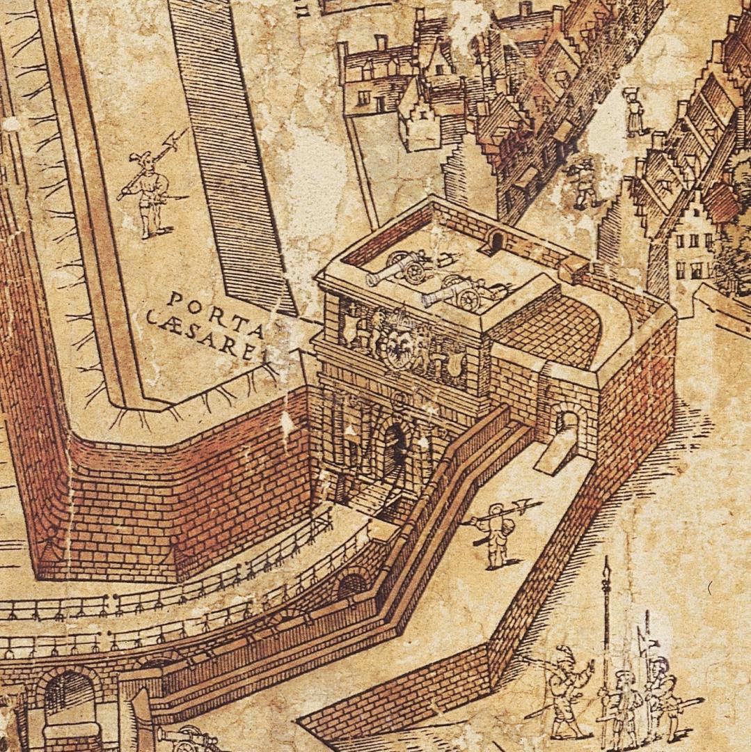 De keizerspoort op de kaart Bononiensis (1565)