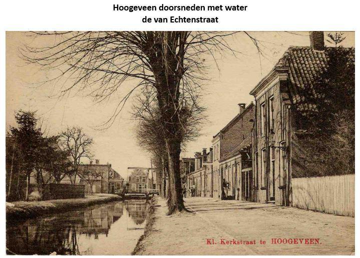 Van Echtenstraat, Hoogeveen 'doorsneden met water'