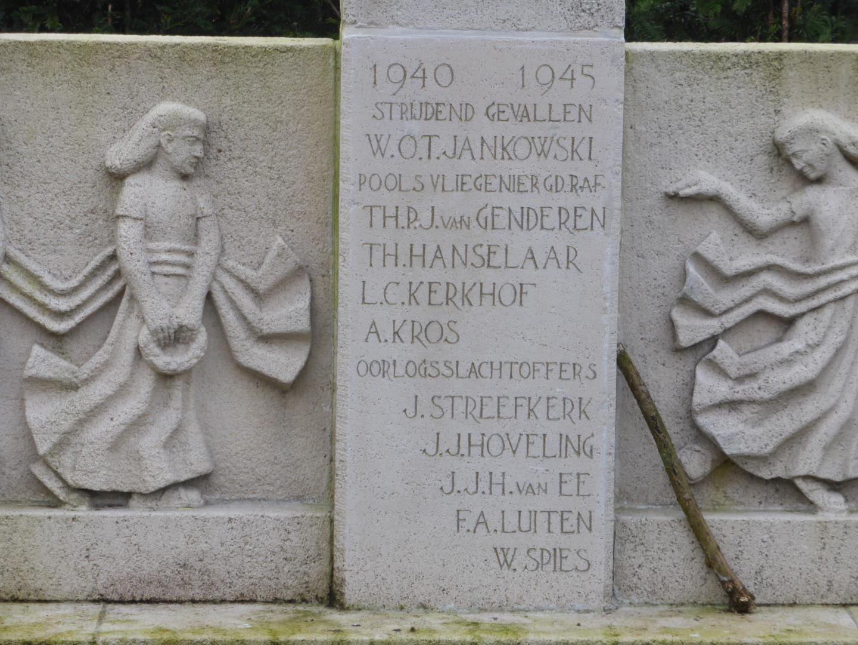 De namen op het monument voor altijd in steen gebijteld.