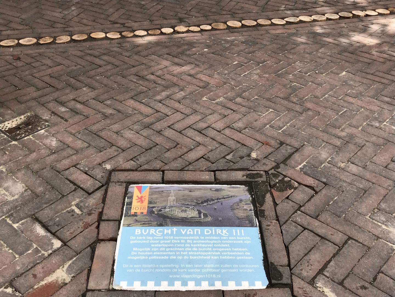 Aangetroffen resten Burcht Dirk III uit 1018 (Slag bij Vlaardingen)