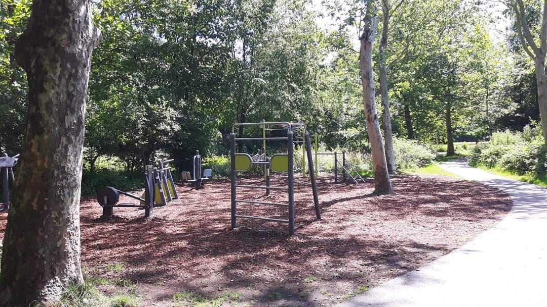 Buitentrimtoestel in Park Oudegein