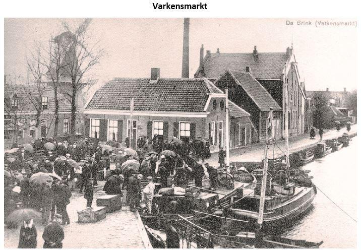 Voormalige varkensmarkt, hoek Brinkstraat/Willemskade Hoogeveen